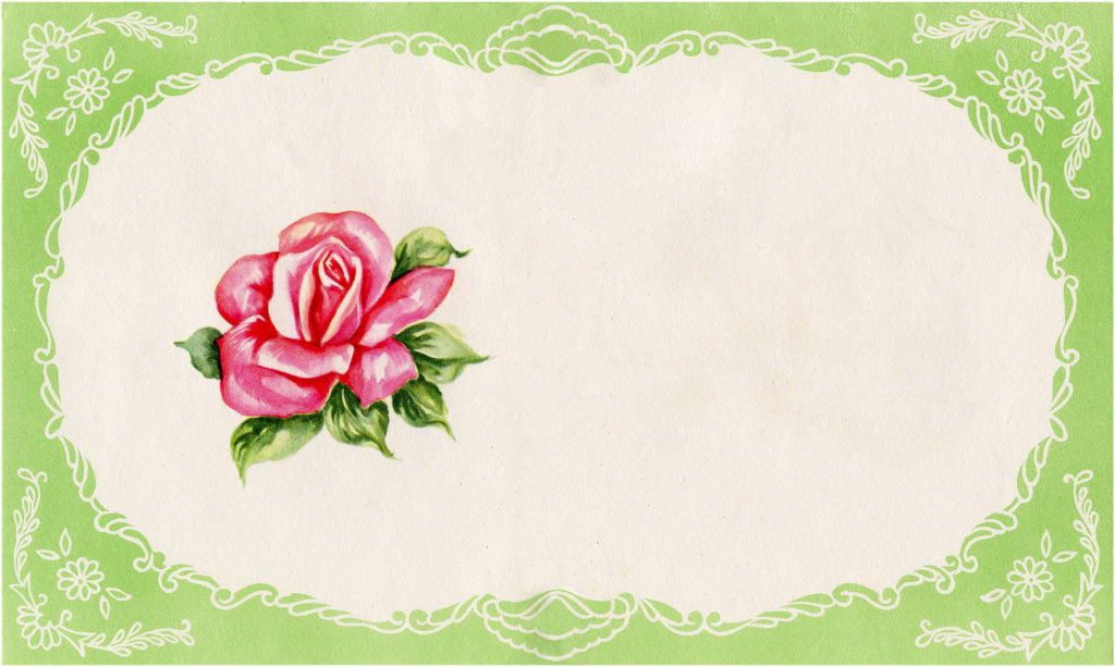 Green Floral Label