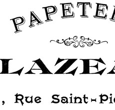 French Papeterie Furniture Transfer Printable!