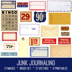 Junk Journaling Images Kit! Graphics Fairy Premium Membership