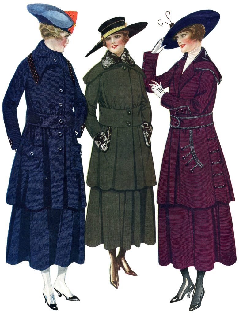 Lovely Edwardian Ladies in Fashionable Coats Image!