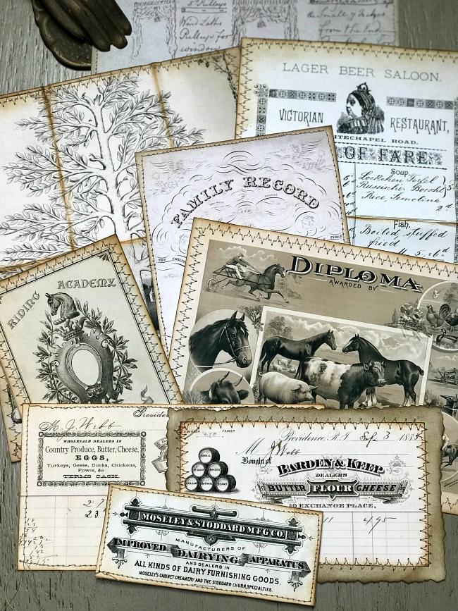 Farmhouse Style Vintage Ephemera