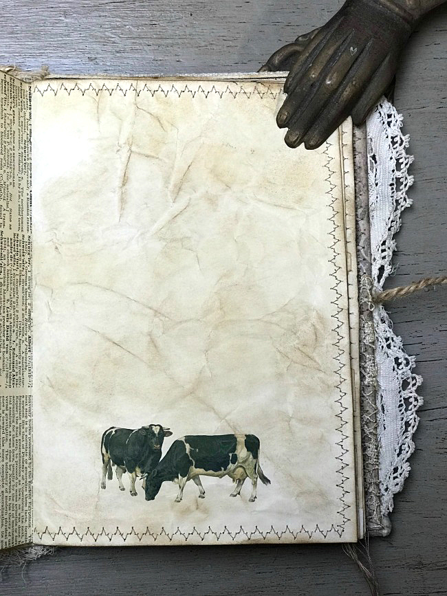Cows Junk Journal Page
