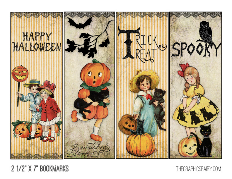 Halloween Printable Bookmarks
