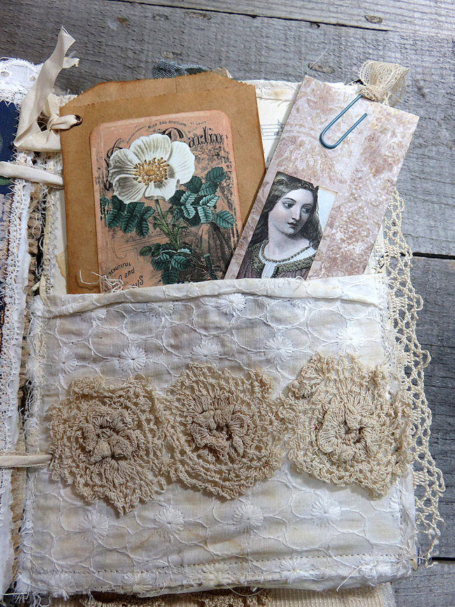Vintage Junk Journal with Shakespeare Lady