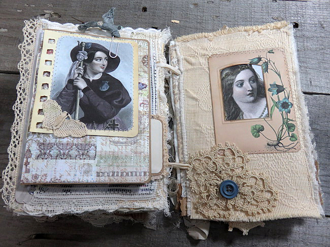 Bohemian Junk Journal with Shakespeare Characters
