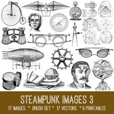 Steampunk Images 3 Kit! Graphics Fairy Premium Membership