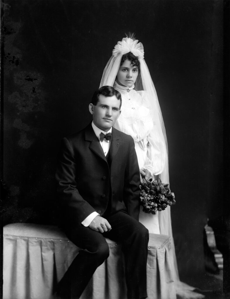 Bride Groom Antique Photo