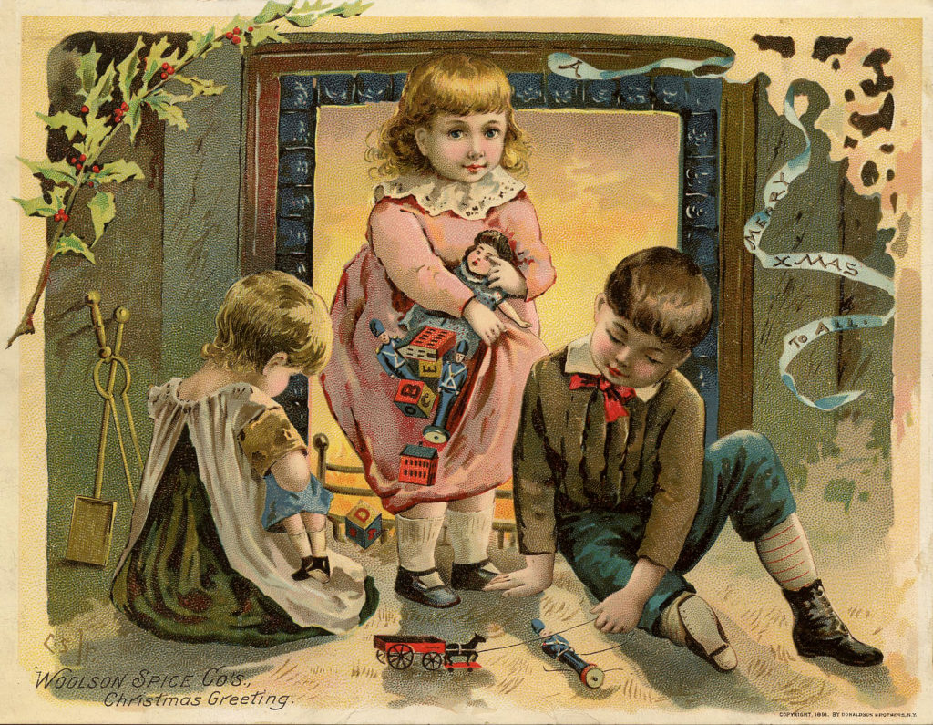 Christmas Children with Toys Image
