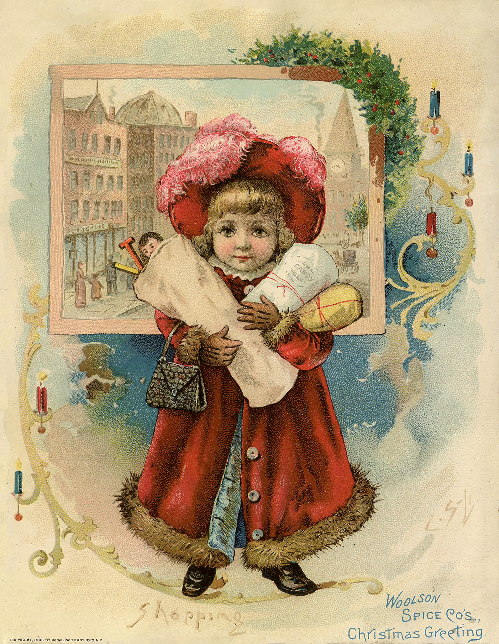 This is an image of Adaptable Free Victorian Christmas Images