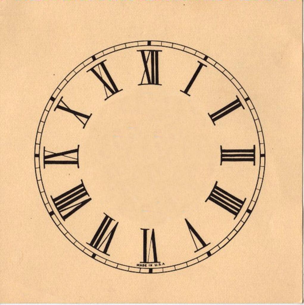 Clock Face Clipart Roman Numerals