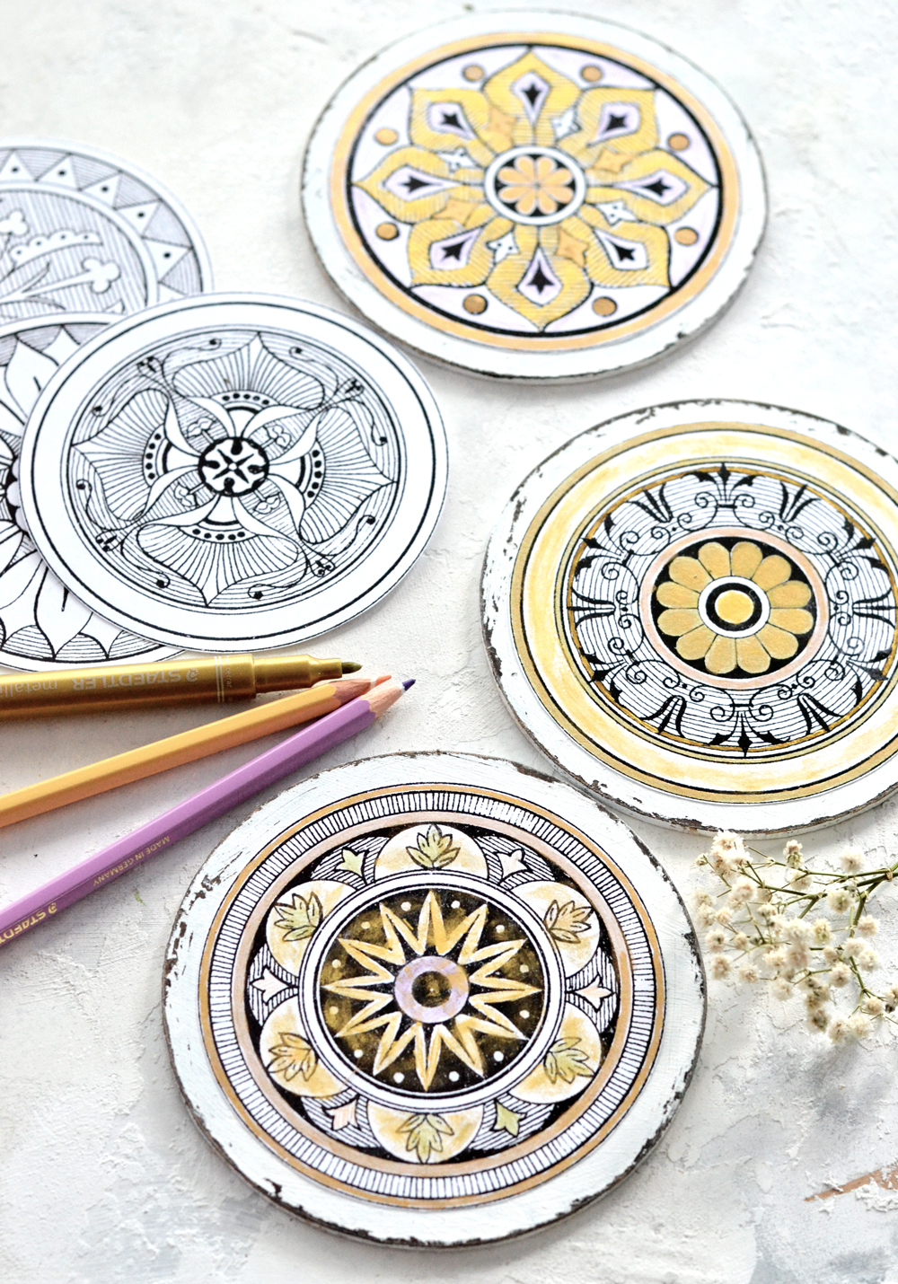 photo about Printable Coasters referred to as Do-it-yourself Antique Grownup Coloring Medallions cost-free printable!
