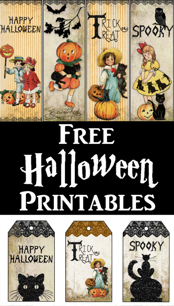 Halloween Printable Tags and Bookmarks