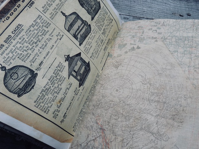 Junk Journal pages with Map