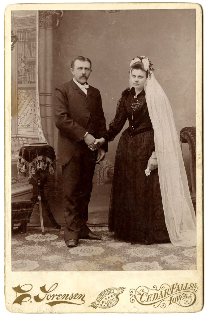 Old Photo Bride Black Dress