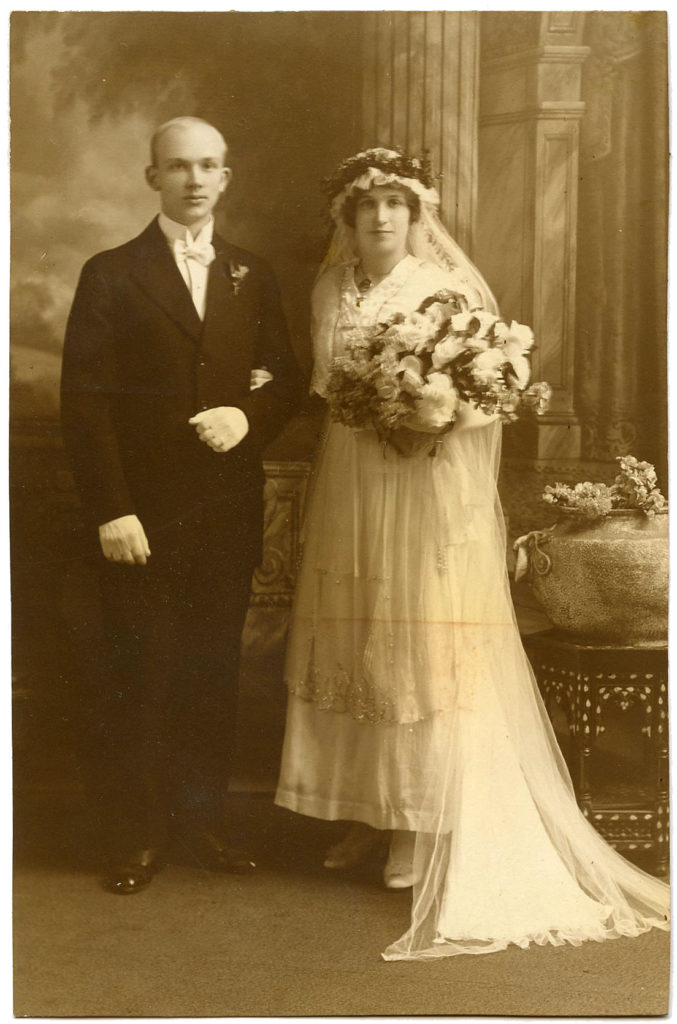 Antique Photo Bride and Groom