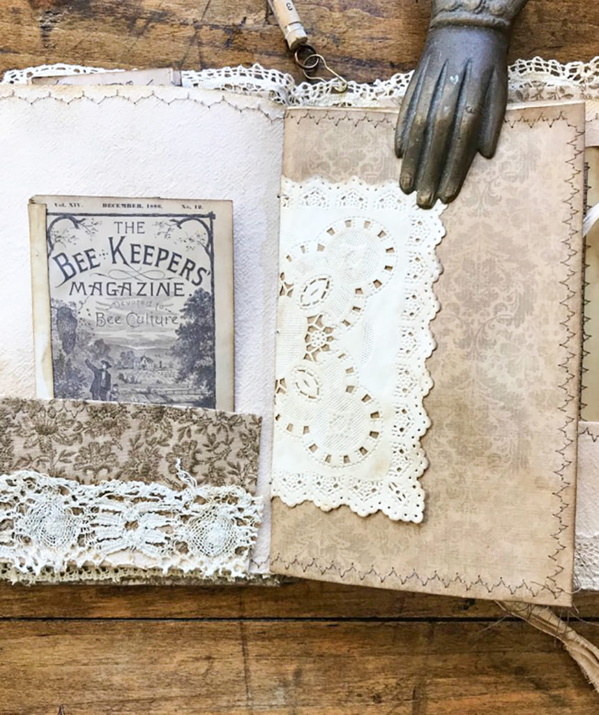 Beekeeper's Junk Journal lace embellishments