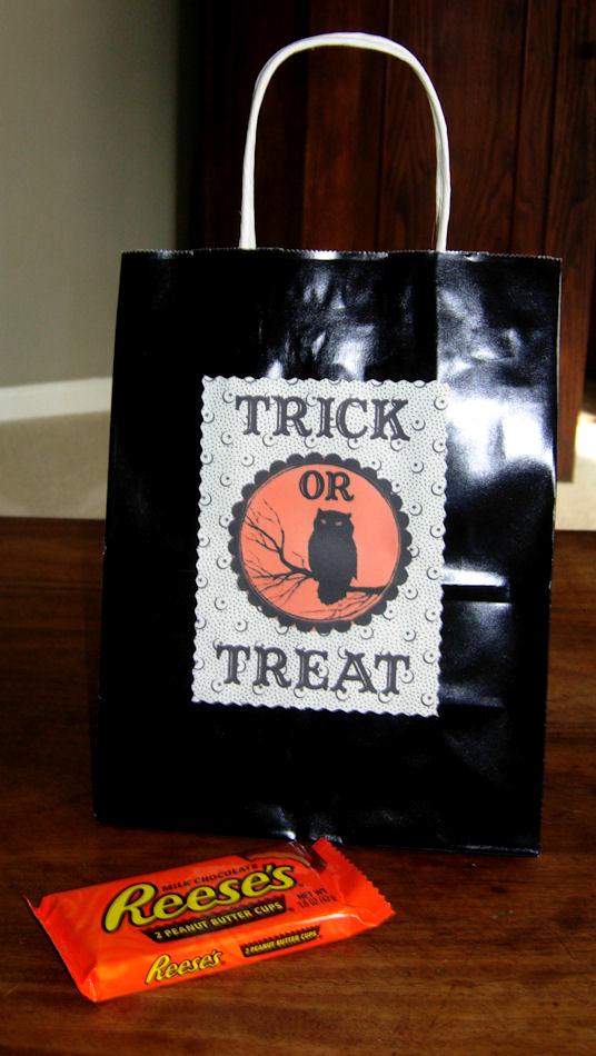 Trick or Treat Bag Label
