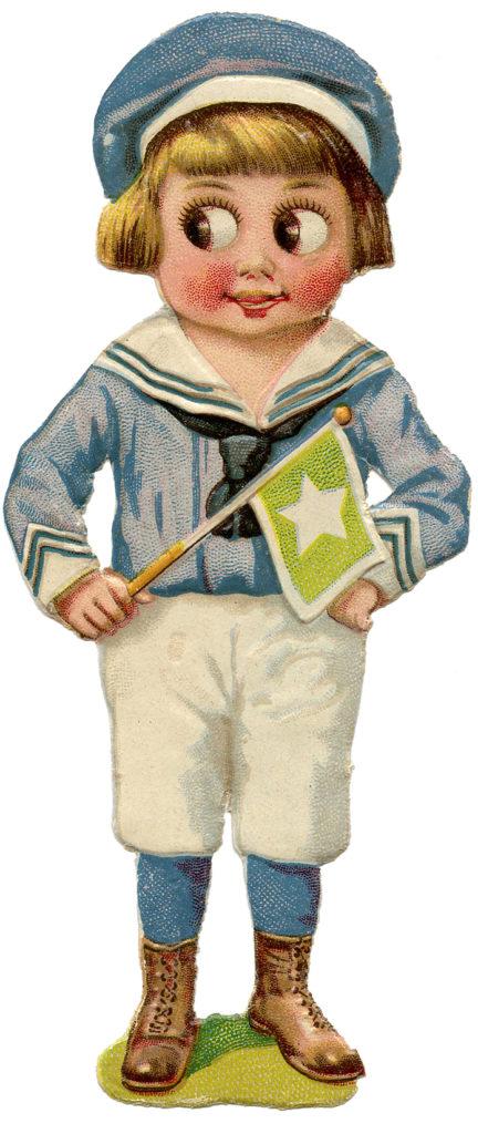 Sailor Boy Image with Google Eyes