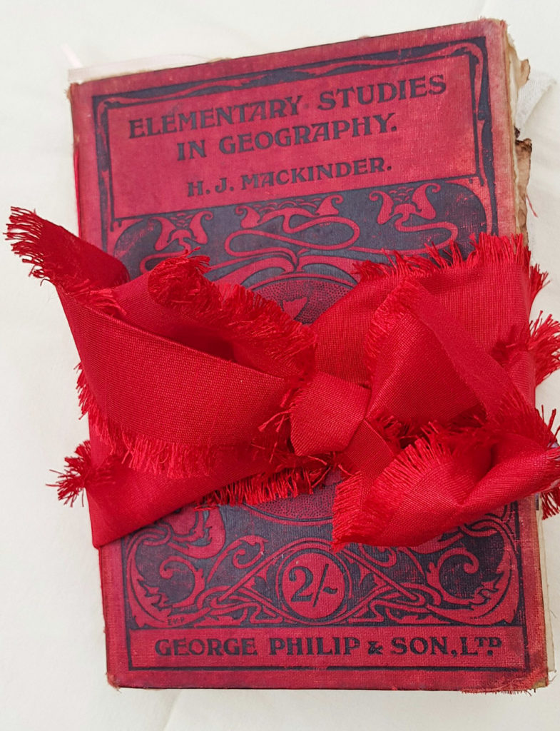 Travel Diary Junk Journal Cover Wrapped with Red Bow