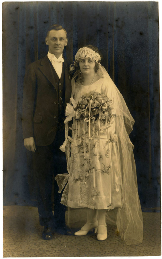Vintage Bride and Groom Photo