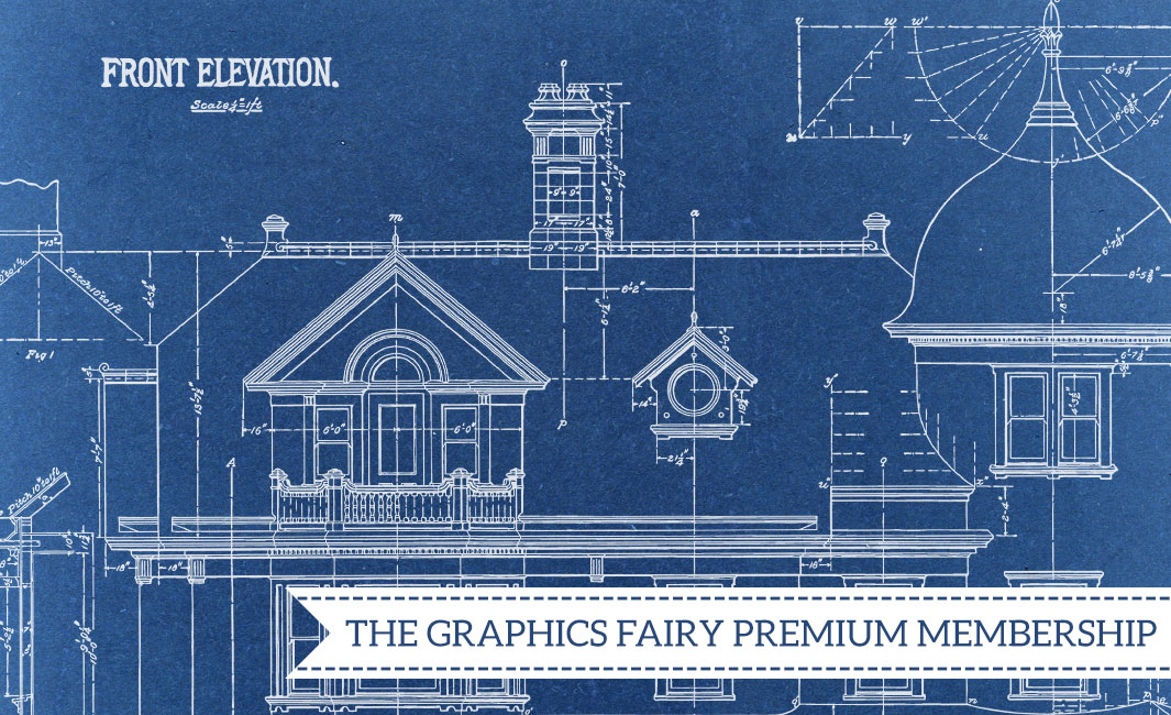 Architectural Drawings 2 Images Kit Graphics Fairy