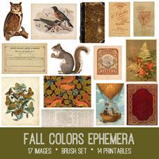 Fall Colors Ephemera Images Kit! Graphics Fairy Premium Membership