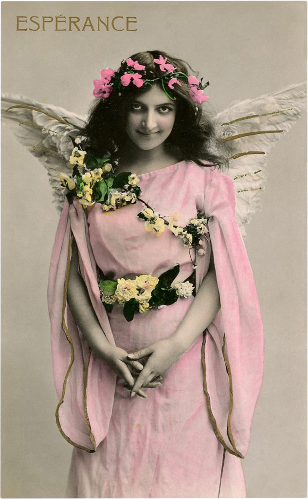 Angel Lady Photo Vintage