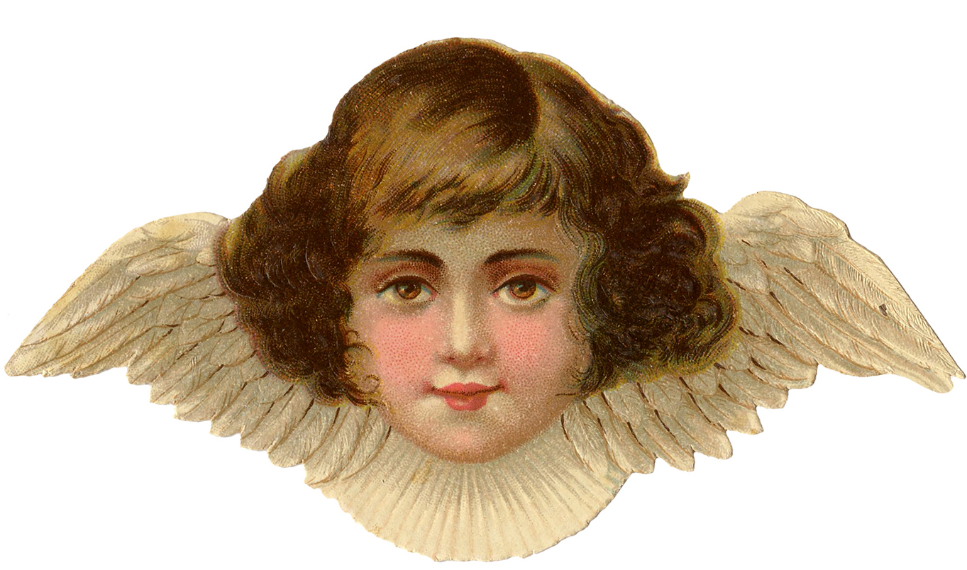 angel cherub clip faces clipart victorian wings graphics fairy graphic cut lovely
