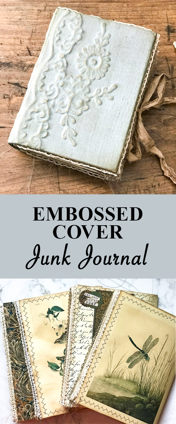 Embossed Cover Junk Journal Hero Pin