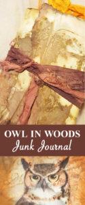 Owl in Woods Junk Journal Pin