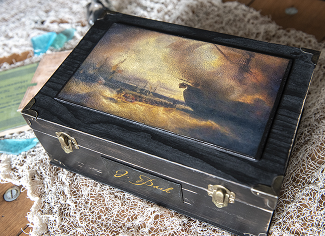Pirate Diary Junk Journal Box with Nameplate