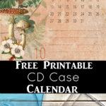 Free Printable Calendar 2019 for CD Case
