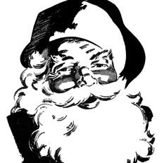 12 Cute Santa Clipart – Retro Style!