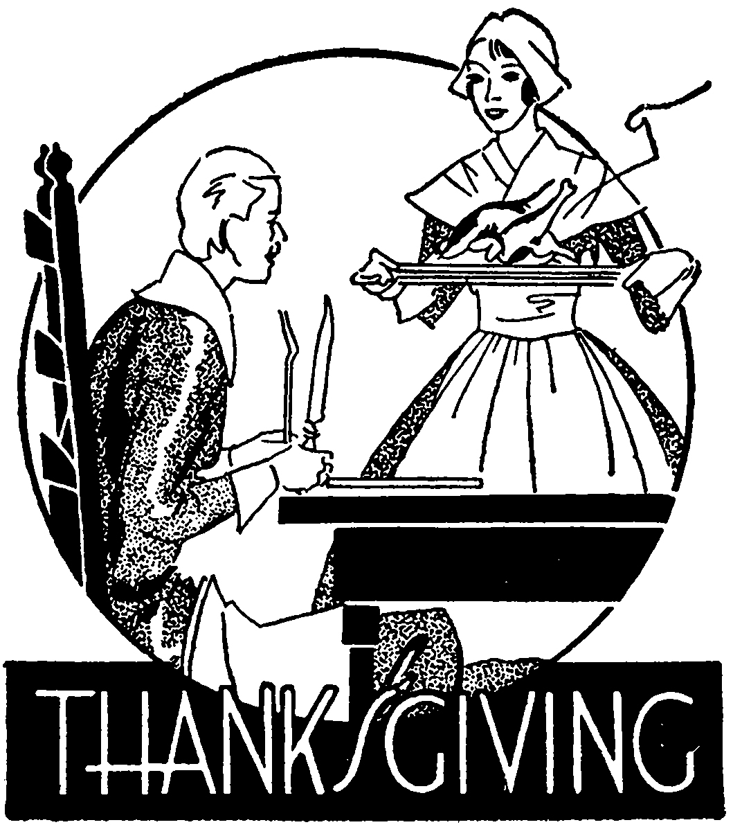 Thanksgiving Pilgrim Clipart