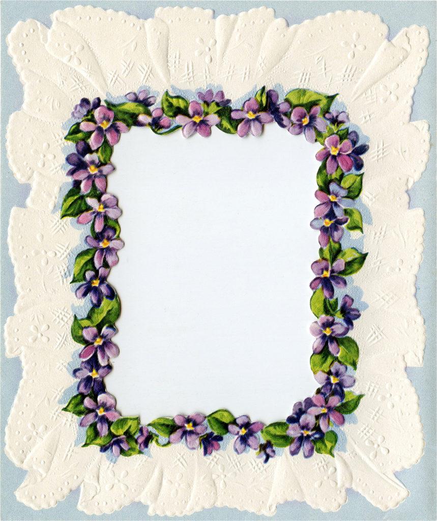 Retro Violets Graphic Set