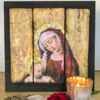 DIY Vintage Madonna and Child Art Triptych