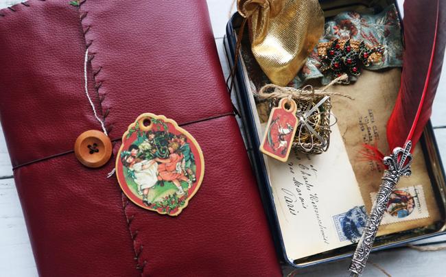 Christmas Scrapbook Junk Journal and Box