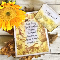 Thanksgiving Mixed Media place card
