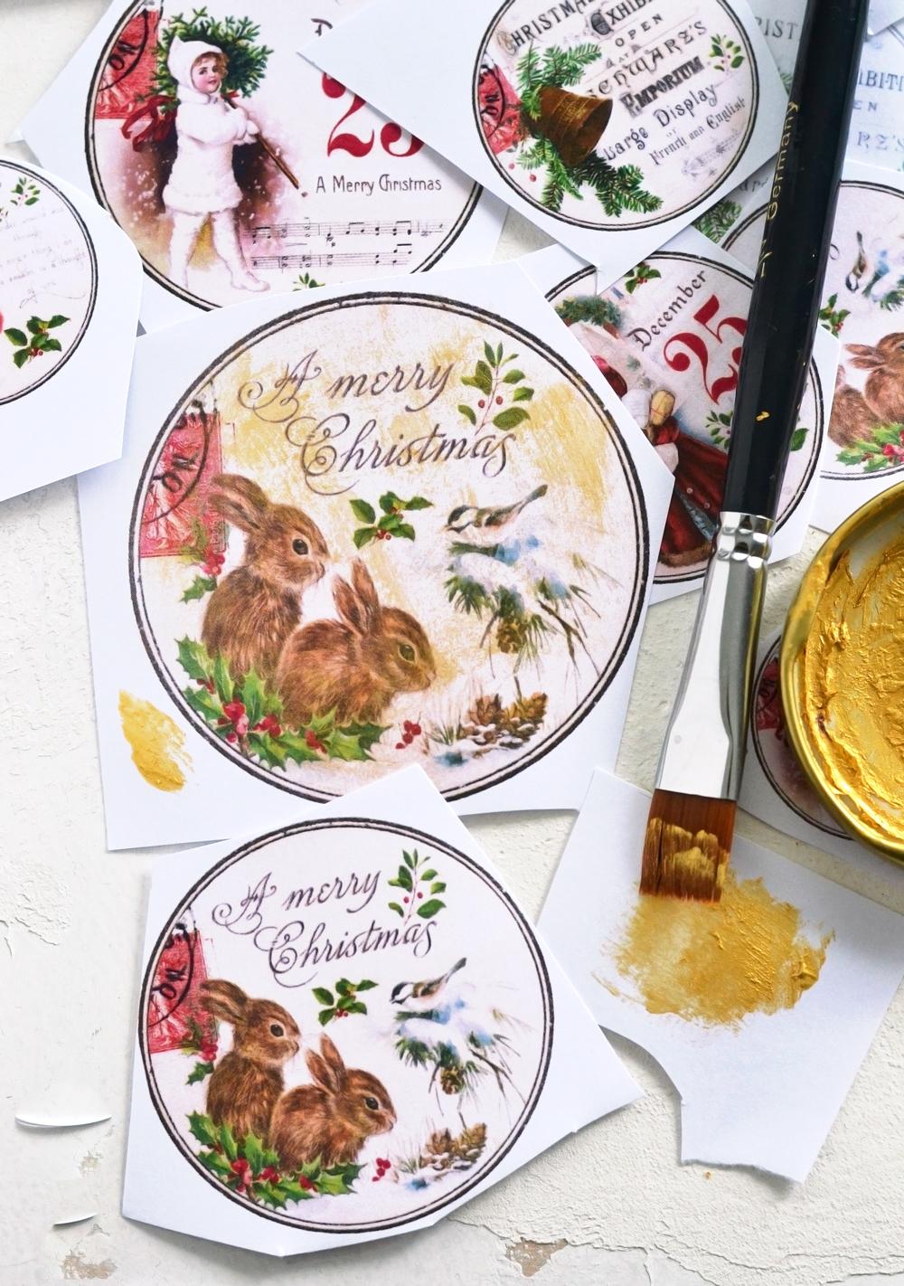 Diy Vintage Gold Christmas Gift Tags Free Printable