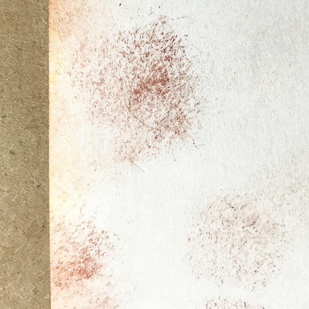 Stipple Practice on scrap paper Dots