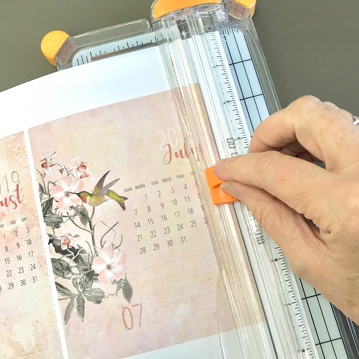 Trim Calendar Pages