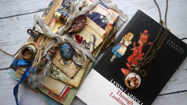 Alice in Wonderland Junk Journal