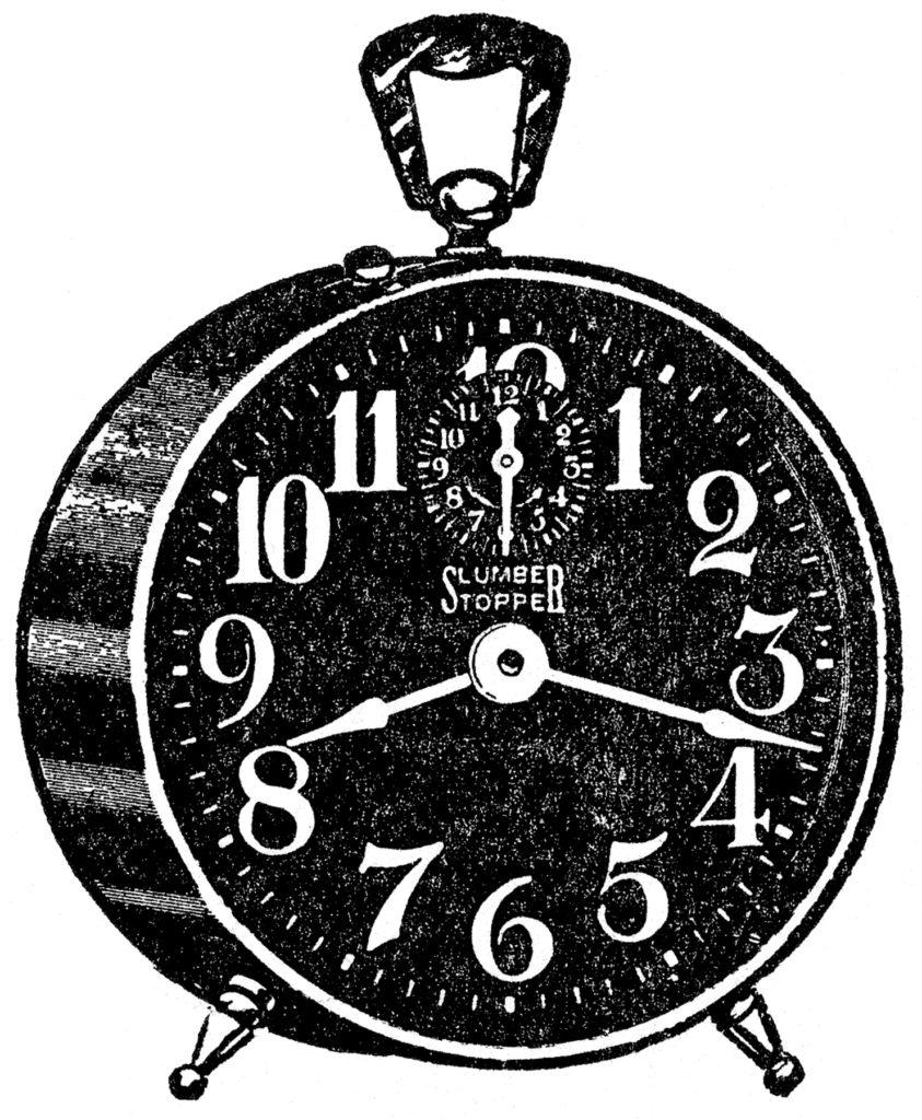 Vintage Black Alarm Clock Image