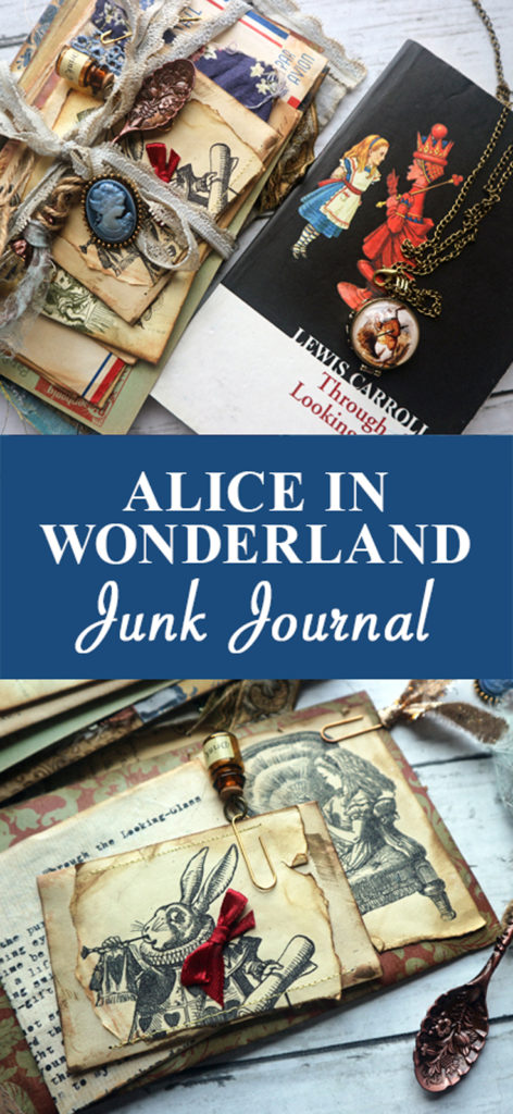 Alice in Wonderland Junk Journal pin