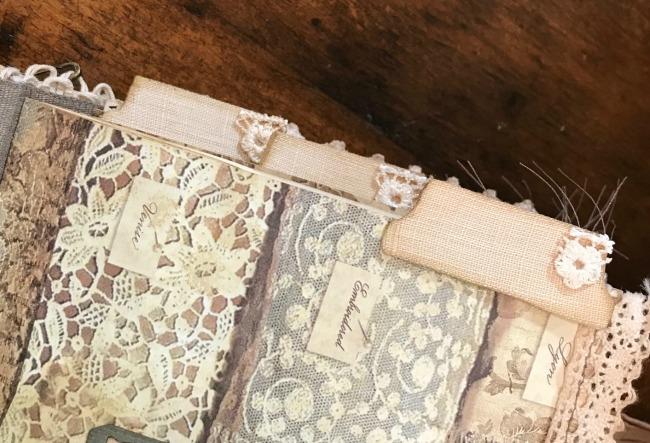 Junk Journal Linen Tabs
