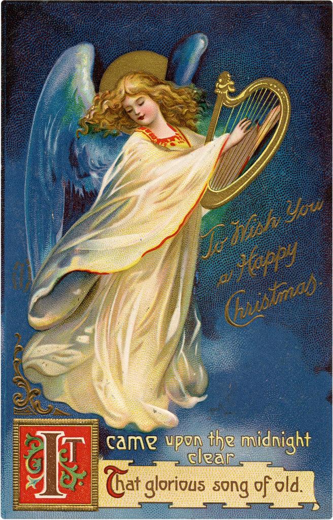 Christmas Angel Harp