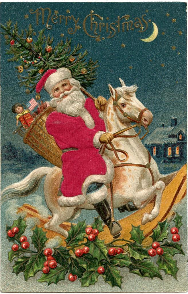 Santa Rocking Horse Image
