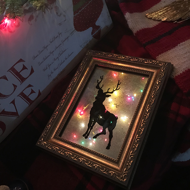 DIY Mercury Glass Reindeer