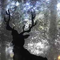DIY Vintage Mercury Glass Reindeer Silhouette