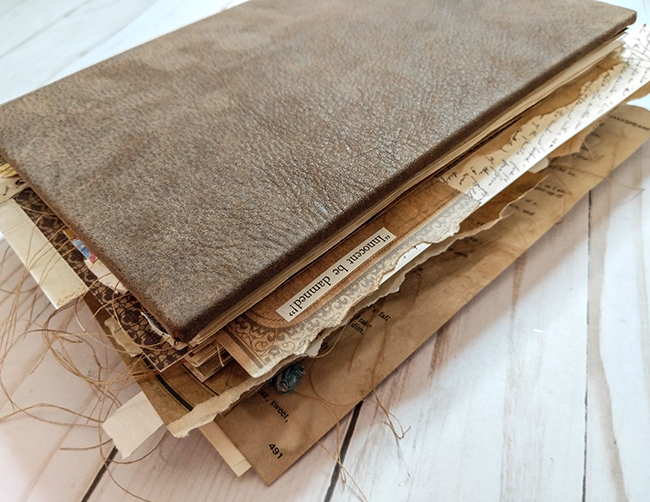 Poets French Junk Journal Leather Cover